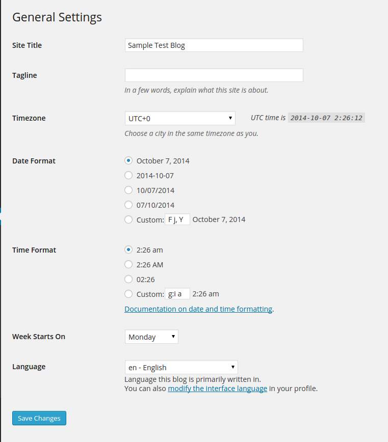 Understanding the General Settings for your WordPress Blog